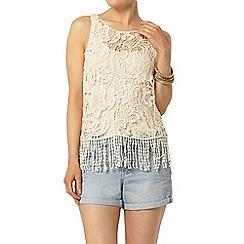 Dorothy Perkins - Ivory crochet vest