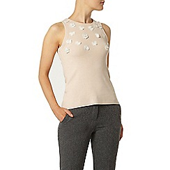 Dorothy Perkins - 3d floral embellished shell knitted top