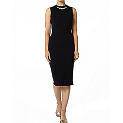 Dorothy Perkins - Navy embellished knitted midi dress
