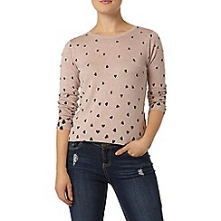 Dorothy Perkins - Rose sparkle heart jumper