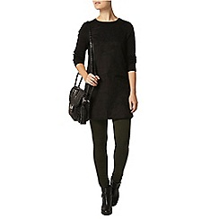 Dorothy Perkins - Black suede front knit tunic