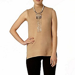 Dorothy Perkins - Camel sleeveless knitted tabard