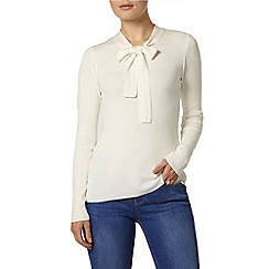 Dorothy Perkins - Ivory pussybow jumper