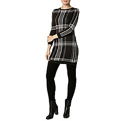 Dorothy Perkins - Black check knitted tunic