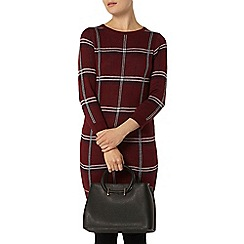Dorothy Perkins - Berry check tunic jumper