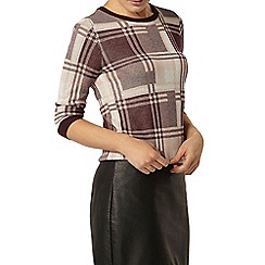 Dorothy Perkins - Berry check jumper