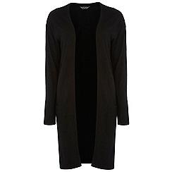 Dorothy Perkins - Tall black longline pocket cardigan
