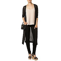 Dorothy Perkins - Black rib sparkle long line cardigan