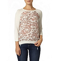 Dorothy Perkins - Woven front long sleeve jumper