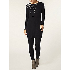 Dorothy Perkins - Navy pearl embroidered tunic