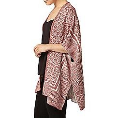 Dorothy Perkins - Red knitted tile print blanket