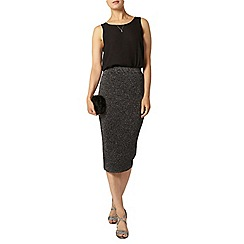 Dorothy Perkins - Black sparkle skirt