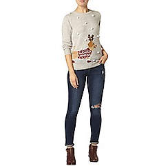 Dorothy Perkins - Light grey pom pom sausage dog jumper