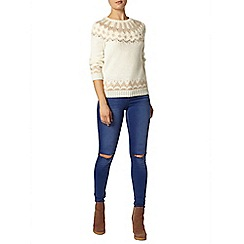 Dorothy Perkins - Nude and ivory fairisle jumper