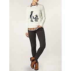 Dorothy Perkins - Ivory sequin penguin jumper