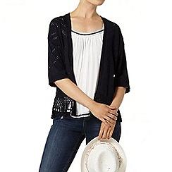 Dorothy Perkins - Navy pointelle tassle kimono
