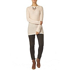 Dorothy Perkins - Blush longline bow back jumper