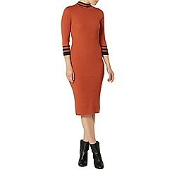 Dorothy Perkins - Orange rib midi dress