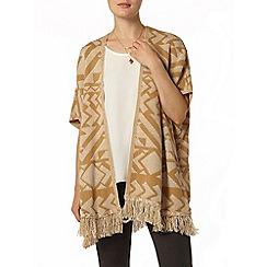 Dorothy Perkins - Camel and ivory tassel blanket