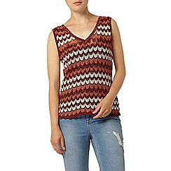 Dorothy Perkins - Multi sparkle chevron knitted vest top