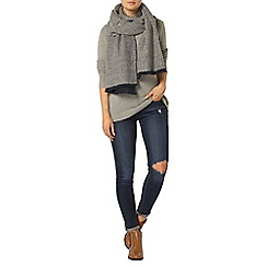 Dorothy Perkins - Grey zip detail jumper