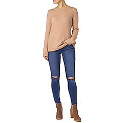 Dorothy Perkins - Nude zip detail jumper