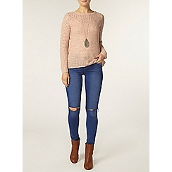 Dorothy Perkins - Nude twist petal back jumper