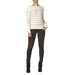 Dorothy Perkins - Grey and ivory stripe jumper