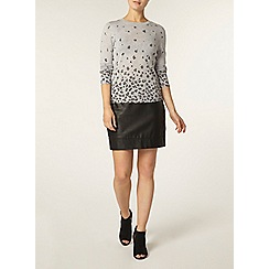 Dorothy Perkins - Grey animal print jumper