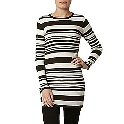 Dorothy Perkins - Khaki and ivory stripe tunic