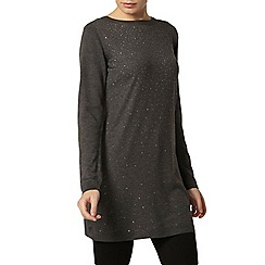 Dorothy Perkins - Charcoal embellished tunic