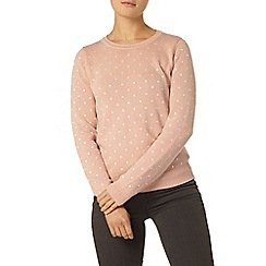 Dorothy Perkins - Nude embroidered spot jumper