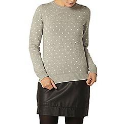 Dorothy Perkins - Grey embroidered spot jumper