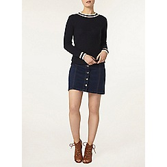 Dorothy Perkins - Navy tipped chunky knit jumper