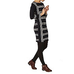 Dorothy Perkins - Navy and ivory stripe tunic
