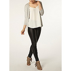 Dorothy Perkins - Grey lace back cardigan