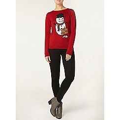 Dorothy Perkins - Red snowman jumper