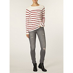 Dorothy Perkins - Ivory and red stripe jumper