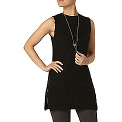 Dorothy Perkins - Black tab side tabard jumper