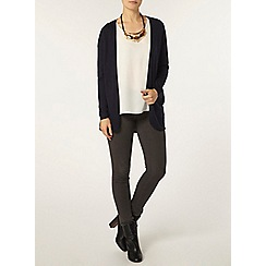 Dorothy Perkins - Navy rib trim cardigan
