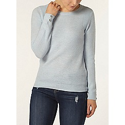 Dorothy Perkins - Pale blue button stitch jumper