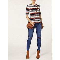 Dorothy Perkins - Multi texture stripe t-shirt
