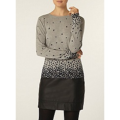 Dorothy Perkins - Grey gradated spot jumper