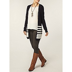Dorothy Perkins - Stripe lace insert cardigan