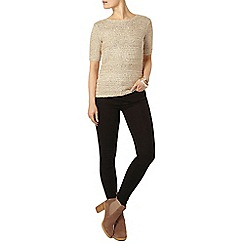 Dorothy Perkins - Gold sequin knitted t-shirt