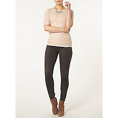 Dorothy Perkins - Rose sequin knitted t-shirt