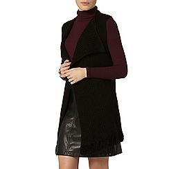 Dorothy Perkins - Black rib sleeveless cardigan
