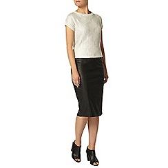 Dorothy Perkins - Silver foil tabbard short sleeved jumper