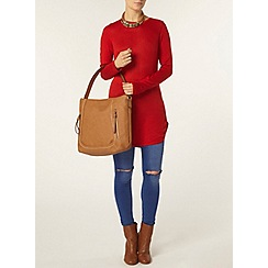 Dorothy Perkins - Red longline jumper
