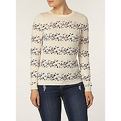 Dorothy Perkins - Oatmeal and navy floral jumper